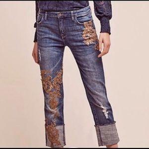 Anthropologie Hyphen sequin Jeans